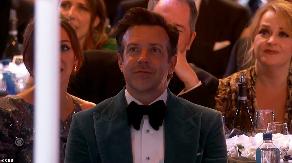 Thanks: 'Jason, you've changed my life with this,' she gushed for her costar Jason Sudeikis, who plays the title character and co-created the series