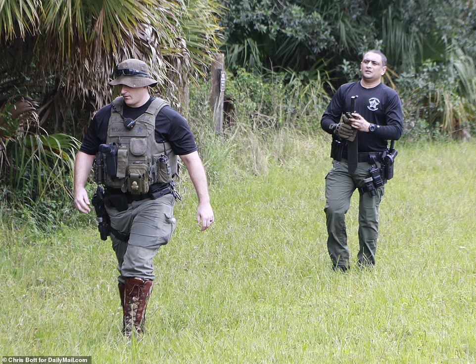 Officers combed the forest as the search for Laundrie began on Saturday, September 18