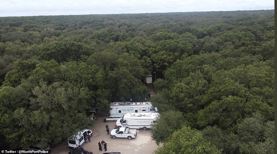 More than 50 law enforcement officers are now using bloodhounds, drones and 4x4 vehicles are searching for Laundrie in the vast and swampy Florida woodland reserve