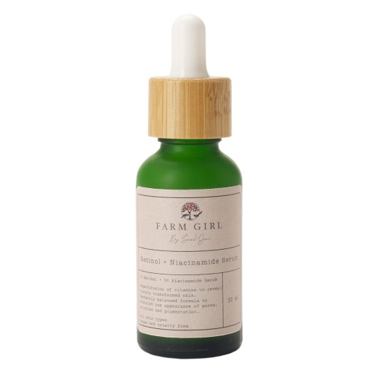 Sustainable facialist and skincare brand Farm Girl by Sarah Jane makes vegan and cruelty-free beauty products from her Essex farm ? her latest natural serum combines wrinkle-erasing retinol and skin smoothing niacinamide which is great for treating acne. Retinol Niacinamide Serum, ?48, farmgirlbysarahjane.co.uk. https://farmgirlbysarahjane.co.uk/collections/by-sarah-jane-products/products/retinol-niacinamide-serum Credit details - https://farmgirlbysarahjane.co.uk/ ?48.00