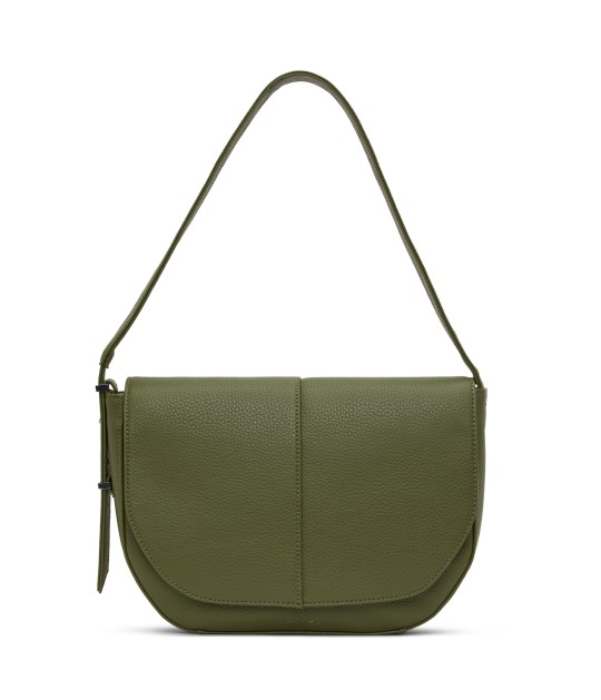 Matt&Nat Alik shoulder bag Canadian vegan leather brand Matt&Nat has just launched its new collection of bags, wallets and jackets including this one the new Alik shoulder bag in meadow green, ?65, mattamdnat.com
