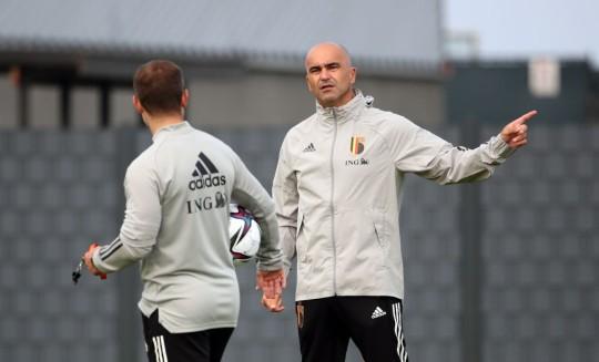 Roberto Martinez Belgium Training Session