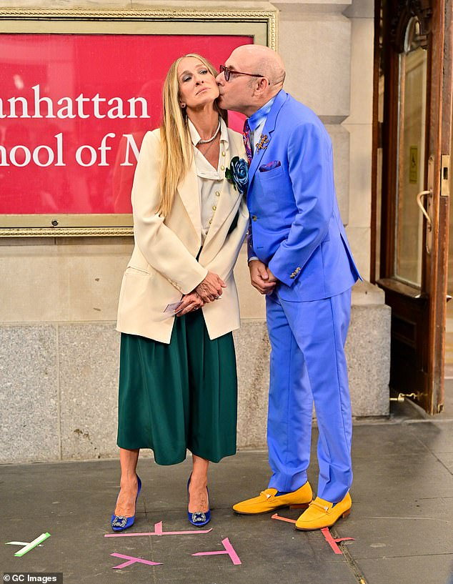 Reboot:Garson was set to reprise his role as Carrie Bradshaw's close pal Stanford Blatch in the forthcoming Sex And The City reboot titled And Just Like That..., which began production in June; pictured with Sarah Jessica Parker on July 24 in NYC