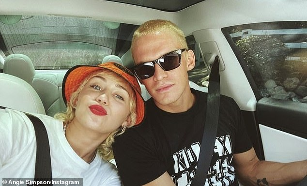 Dating history: Before meetingMarloes, Cody was in a relationship with Miley Cyrus (left)