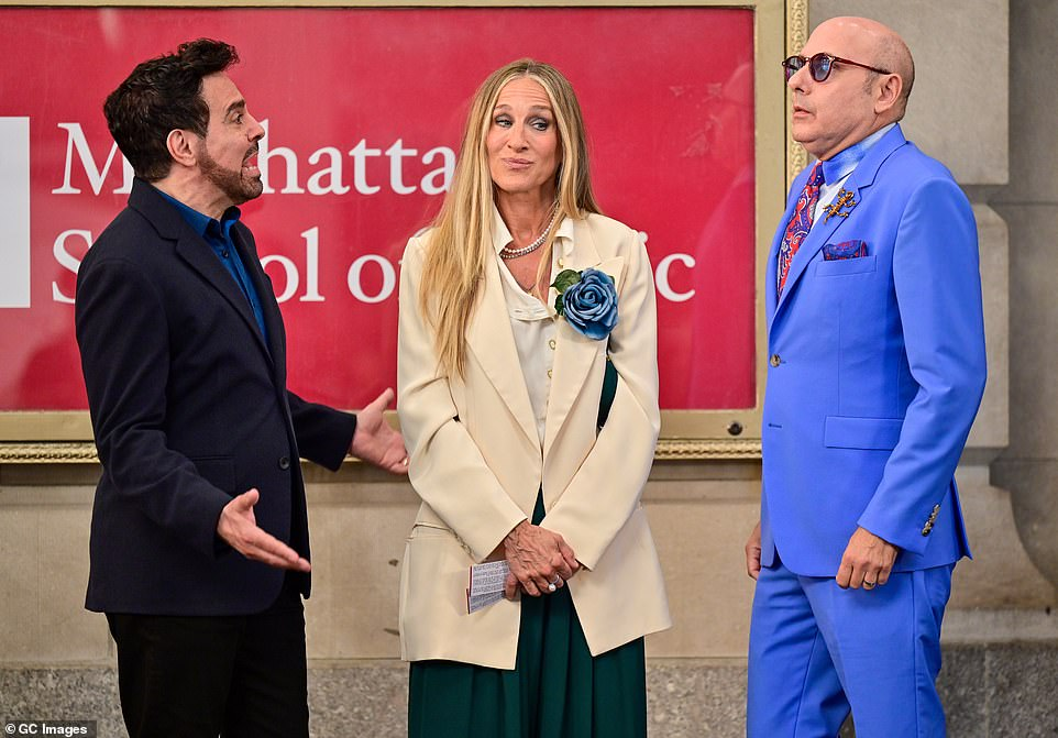 Working:Prior to his passing, Willie was hard at work on the set of the highly-anticipated SATC reboot, which takes a look back on the beloved characters and how they've faired since the 2010 feature film Sex And The City 2; seen with Mario Cantone and Sarah Jessica Parker in July