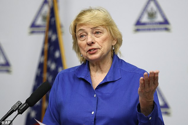 Gov Janet Mills (pictured) gave all healthcare workers in the state until October 29 to get vaccinated in order to remain employed