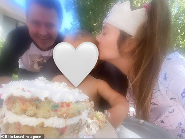 Affectionate:She leaned in to kiss him on the side of the head after they'd already chowed down on a cake