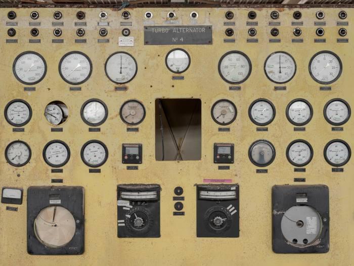 The turbine hall control at Calder Hall