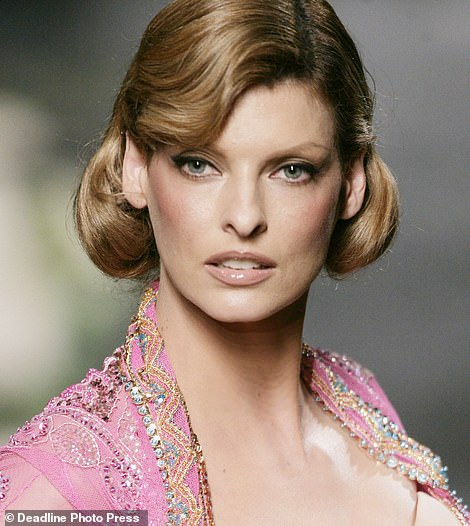 Heartache: The supermodel, 56, took a tentative step back into the public eye when she blamed her 'reclusive' behaviour on a disfiguring procedure. In a statement shared to Instagram, the Nineties-icon claimed she had been 'permanently deformed' (pictured in 2005)