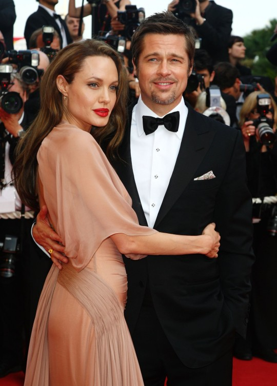 Brad Pitt and Angelina Jolie attend the Inglourious Basterds Premiere held at the Palais Des Festivals, Cannes