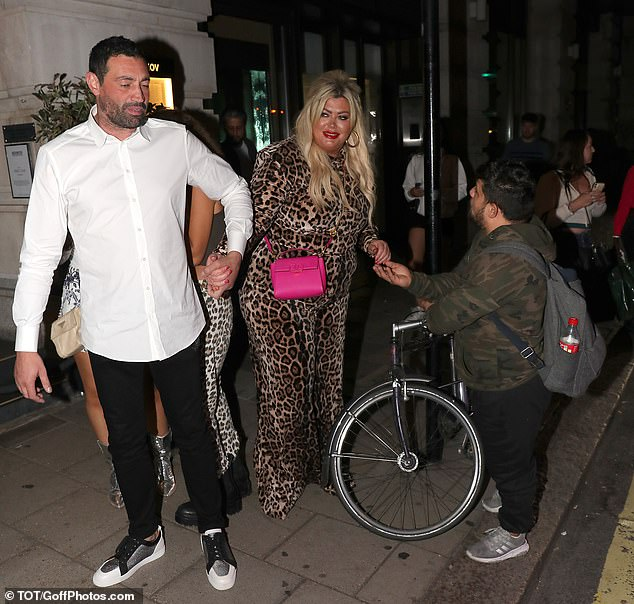 Give us a lift: Chaos ensued on Gemma's wild date night as she then haggled with a rickshaw driver to get her and her beau a ride home