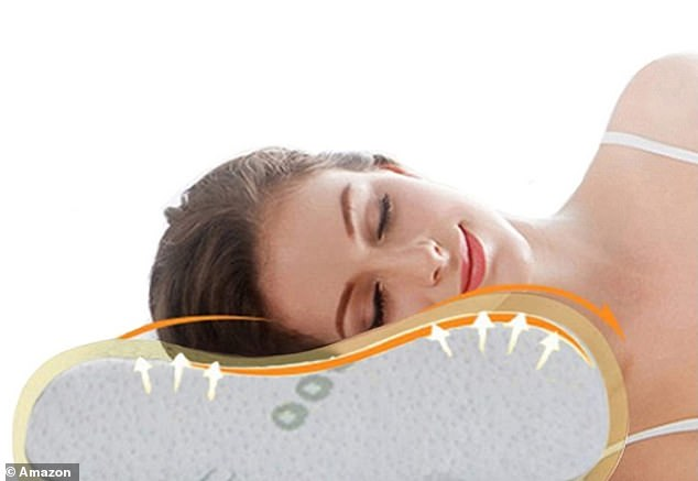 The Ecosafeter Contour Memory Foam Pillow has received over 5,000 five-star reviews on Amazon, with shoppers describing it as 'a must-have for comfort and pain relief'