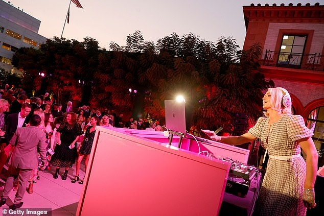 Redone:The event turned the courtyard at The Wallis into an al fresco restaurant and a night club, with Paris performing a DJ set for the crowd