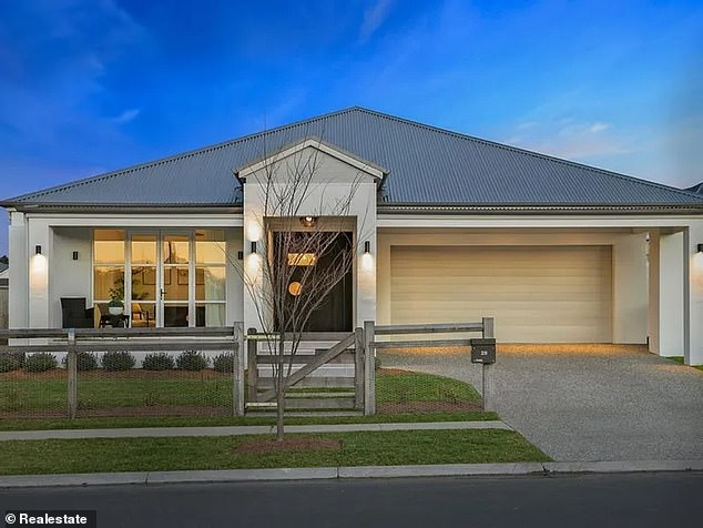 Sold! Sasha sold his striking self-built Bowral house (pictured) for $2.6 million before it even went to the market earlier this month