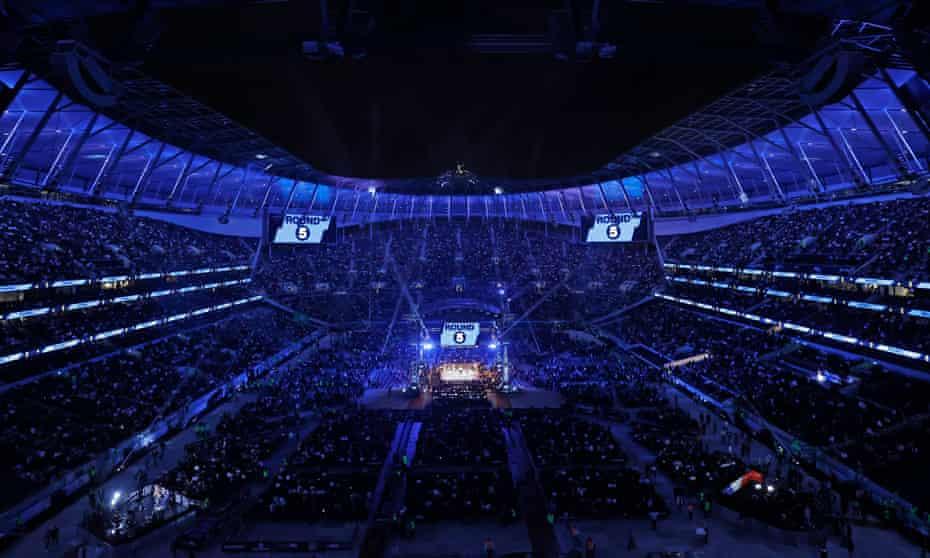 The Tottenham Hotspur Stadium was transformed on Saturday night.