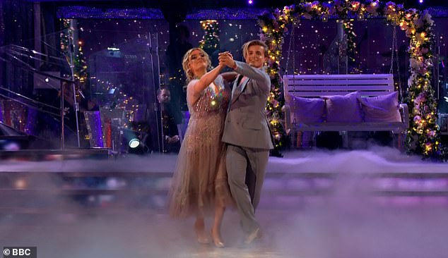 Good debut: Nikita Kuzmin, making his debut on the show, and Tilly performed the dance to Consequences by Camila Cabello