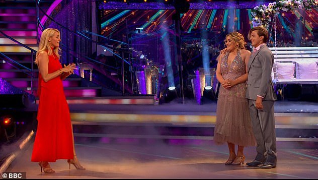 Pride: Tess told Tilly after the dance: 'That was mesmerising! You're the sweetest. I know you were nervous but you definitely didn't look it. And I think you've got a very proud mum'