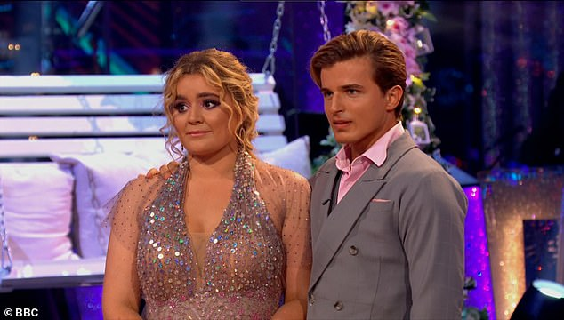 Stunning performance: Tilly left her mother Tana in tears after she performed the waltz with Nikita on Strictly's first live show on Saturday