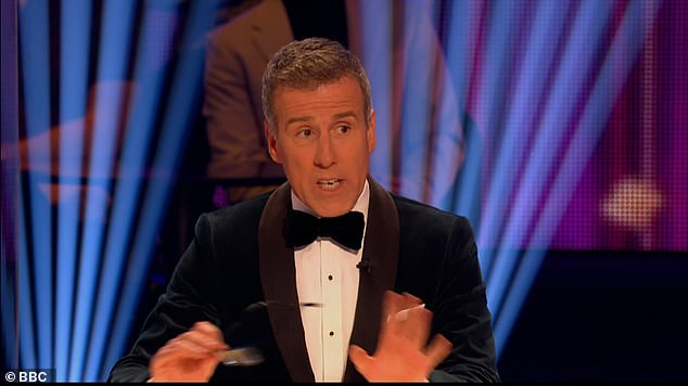 Dazzled: New judge Anton Du Beke was impressed by her performance and dubbed it 'gentle, romantic, and sophisticated'
