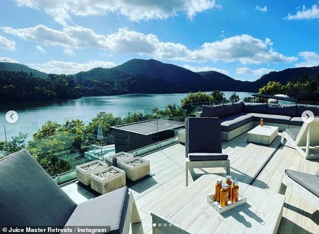 Magnificent view: Its founder promises for 'an environment that would truly nourish mind, body and spirit, and take people on a journey that would inspire and relax in equal measures'