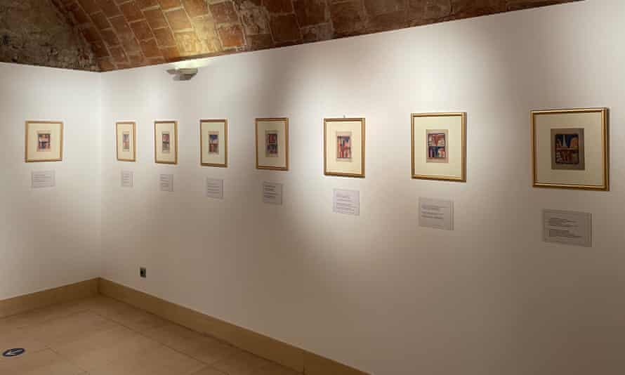 Copies of the work on show in Madrid
