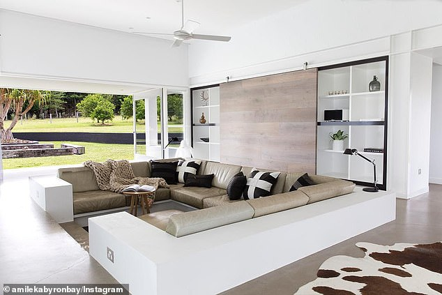 Price tag:According to Realestate.com.au, the secluded contemporary property, which sits on 10 hectares, costs up to $4000 a night