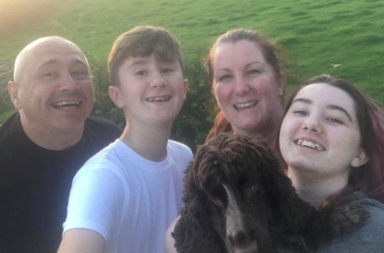Cocker Spaniel Stevie with his new family