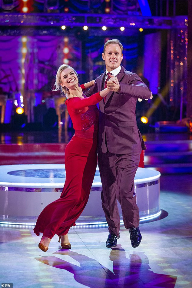 Boost: Having suffered a coupling-up launch show low last week, with just over 7 million viewers, it seems fans were much more eager to watch the first run of live dances this weekend - bumping up to 8 million [Nadiya Bychkova and Dan Walker are pictured]