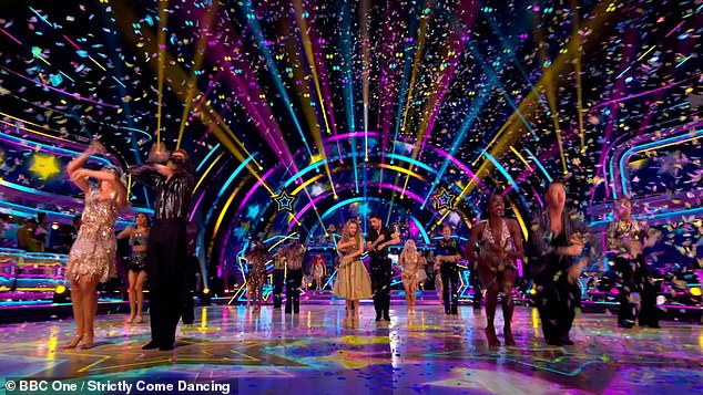 Record low: Strictly Come Dancing returned to screens for its 2021 run a week ago - drawing in 7 million viewers and peaking at 7.3 million