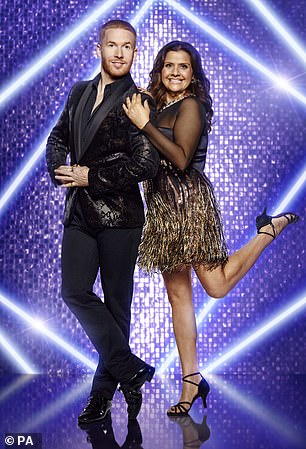 It's Neil! Nina Wadia was teamed up with professional dancer Neil Jones