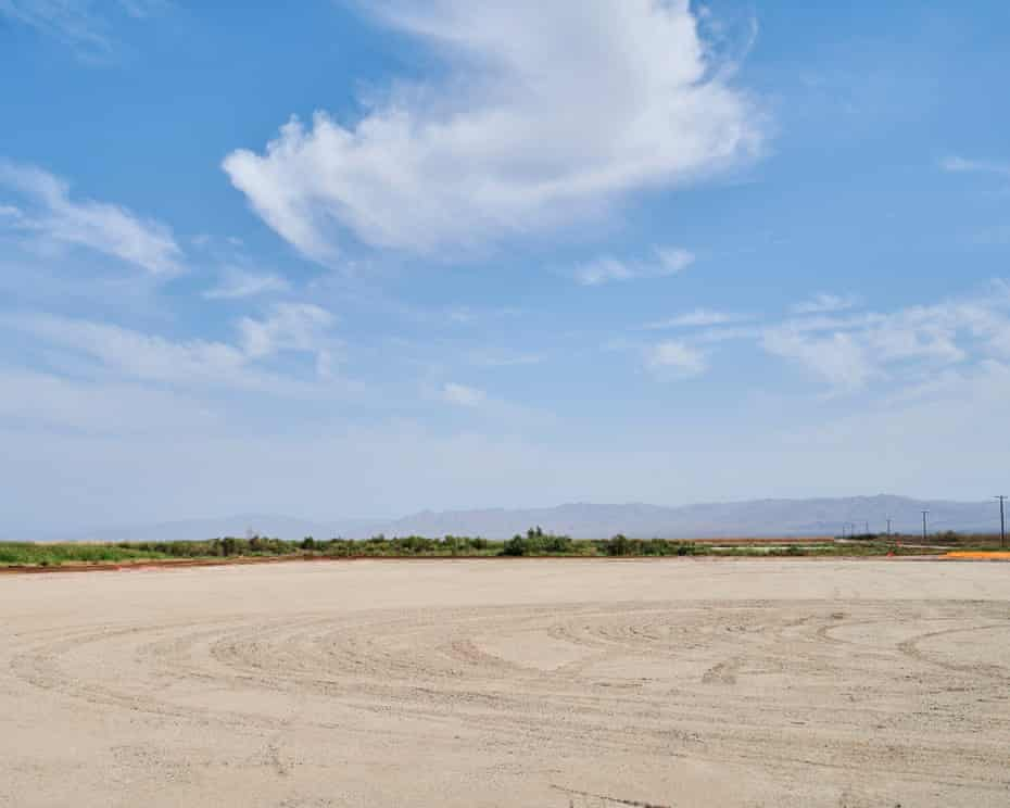 The future lithium mining site being developed by Controlled Thermal Resources in the Salton Sea geothermal field, Imperial, California.