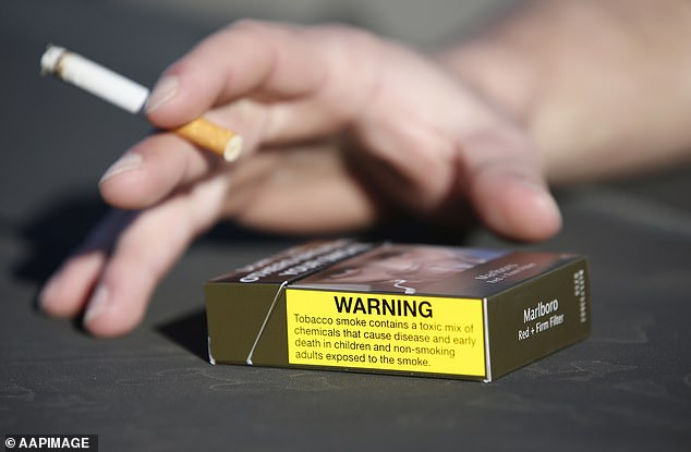 Regular smokers who try to kick the habit could gain weight, a study has found