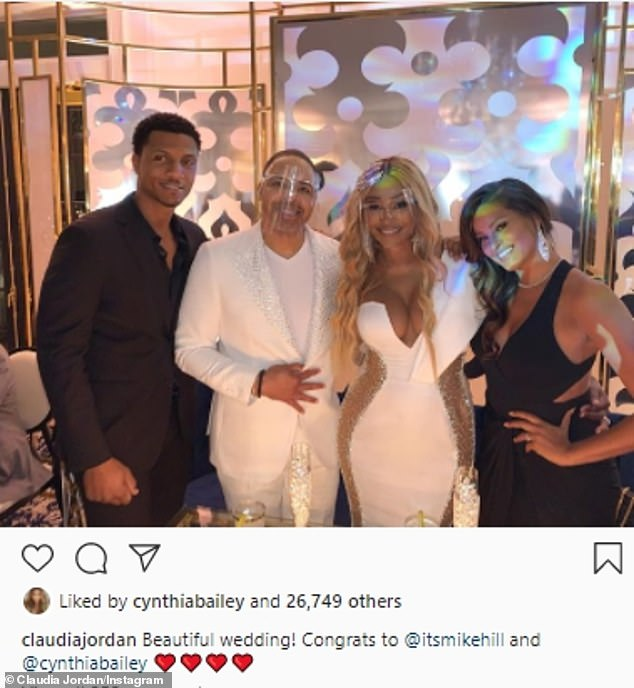 Ceremony:Cynthia began dating Mike Hill, a Fox Sports correspondent in August 2018, and got engaged in July 2019. She tied the knot in October 2020 amid the COVID-19 pandemic; the wedding was featured on season 13