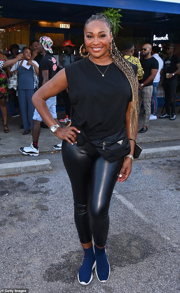 Future plans:Cynthia hinted at her departure in June after she was asked about whether or not she was returning for season 14; pictured June 28, 2021 in College Park, Georgia