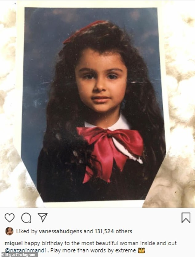Interesting timing:The news comes after Miguel wished Nazanin a happy birthday just two weeks ago with a touching note; he posted it on September 11