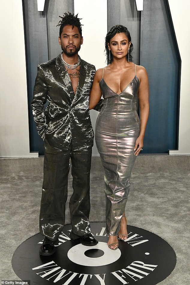 Former flames:Their rep announced the news on Monday: 'After 17 years together, Miguel and Nazanin Mandi have decided to separate and have been for some time now. The couple both wish each other well,' via People; seen February 9, 2020 in Beverly Hills