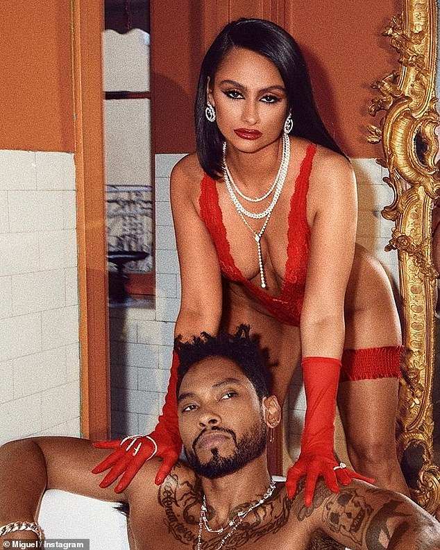 Racy: The former couple posed for a SavagexFenty shoot in January 2021