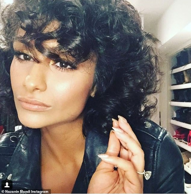Diamond sparkler:They confirmed their engagement in January 2016 after Nazanin was seen wearing a large diamond ring on her ring finger; she debuted the ring on Instagram January 11