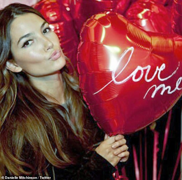 Ex: Meanwhile Chris shares two children with his ex-fiancée Danielle Mitchinson (pictured) and Jennifer reportedly met the footballer through her friendship with Danielle