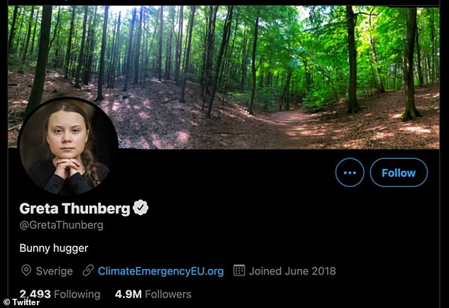 Greta Thunberg has poked fun at Prime Minister Boris Johnson, changing her Twitter profile to 'Bunny hugger' after he use the phrase in his speech at Thursday's Climate Summit