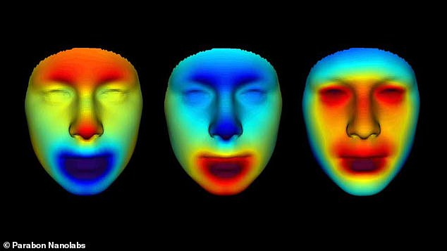 Researchers also generated 3D meshes of the mummies' facial features and used heat maps to highlight the differences between the trio so they could refine the details of each individual