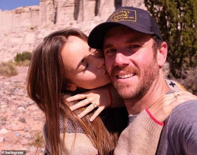 One year together:Last September, the couple got engaged in the stunning surrounds of Sedona, Arizona, with Lily showing off her ring on social media after just one year together