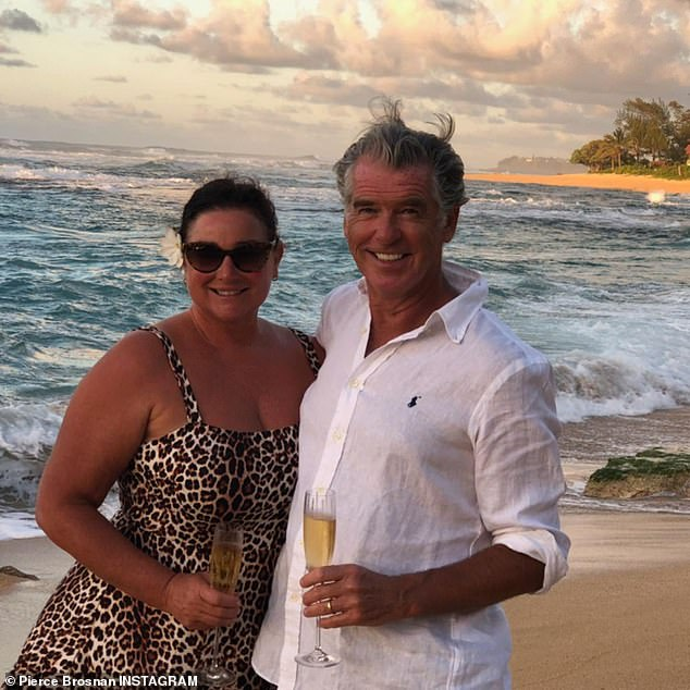 Romance on the shore:The Irish star did not hold back in his caption. 'My beautiful luscious love Keely on her 58th trip around the sun yesterday… apres swim, making coconut water. Happiest of birthdays it was!' he posted for his followers; seen in 2020
