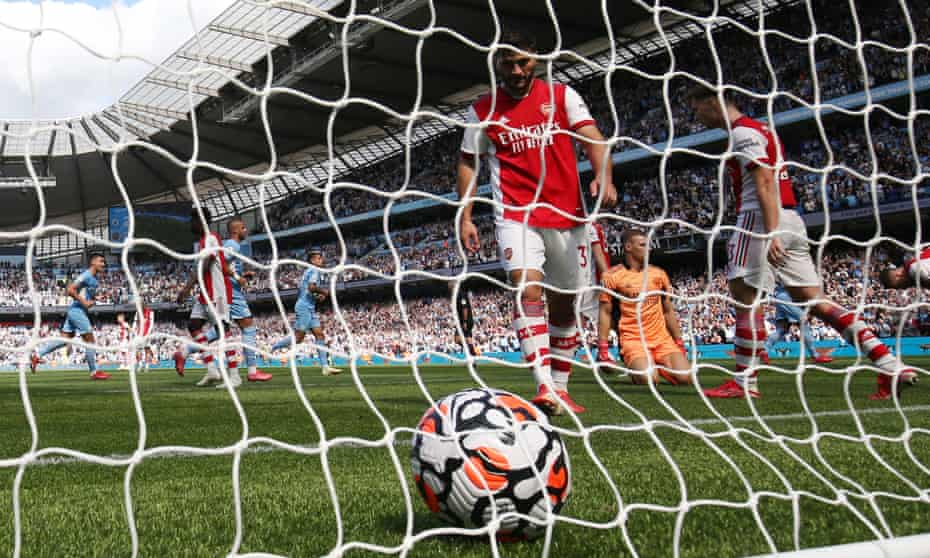 The 5-0 defeat at Manchester City left Arsenal bottom of the Premier League table over the international break.