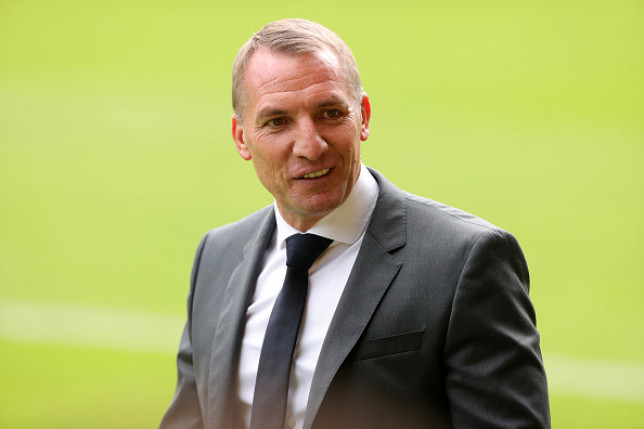 Brendan Rodgers look on after Leicester's Premier League clash with Norwich