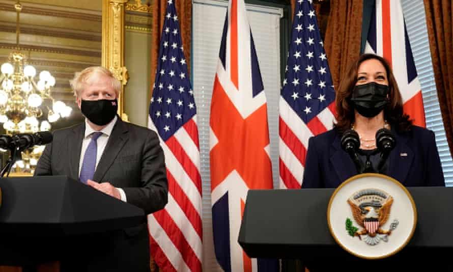 Boris Johnson and Kamala Harris