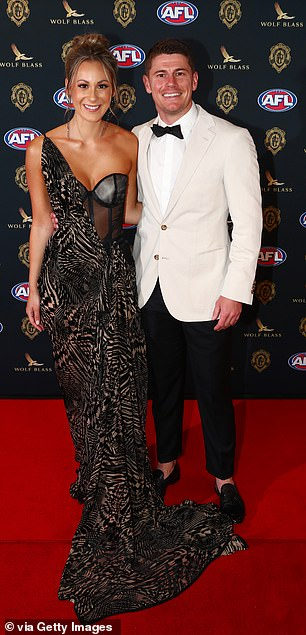 Brownlow Medal 2021: Brisbane Lions star Dayne Zorko and his glamorous girlfriend Talia Demarco led the red carpet arrivals in Perth on Sunday night