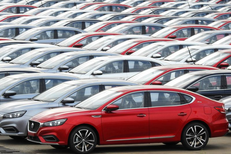 China vehicle sales fall for fourth month on chip shortages
