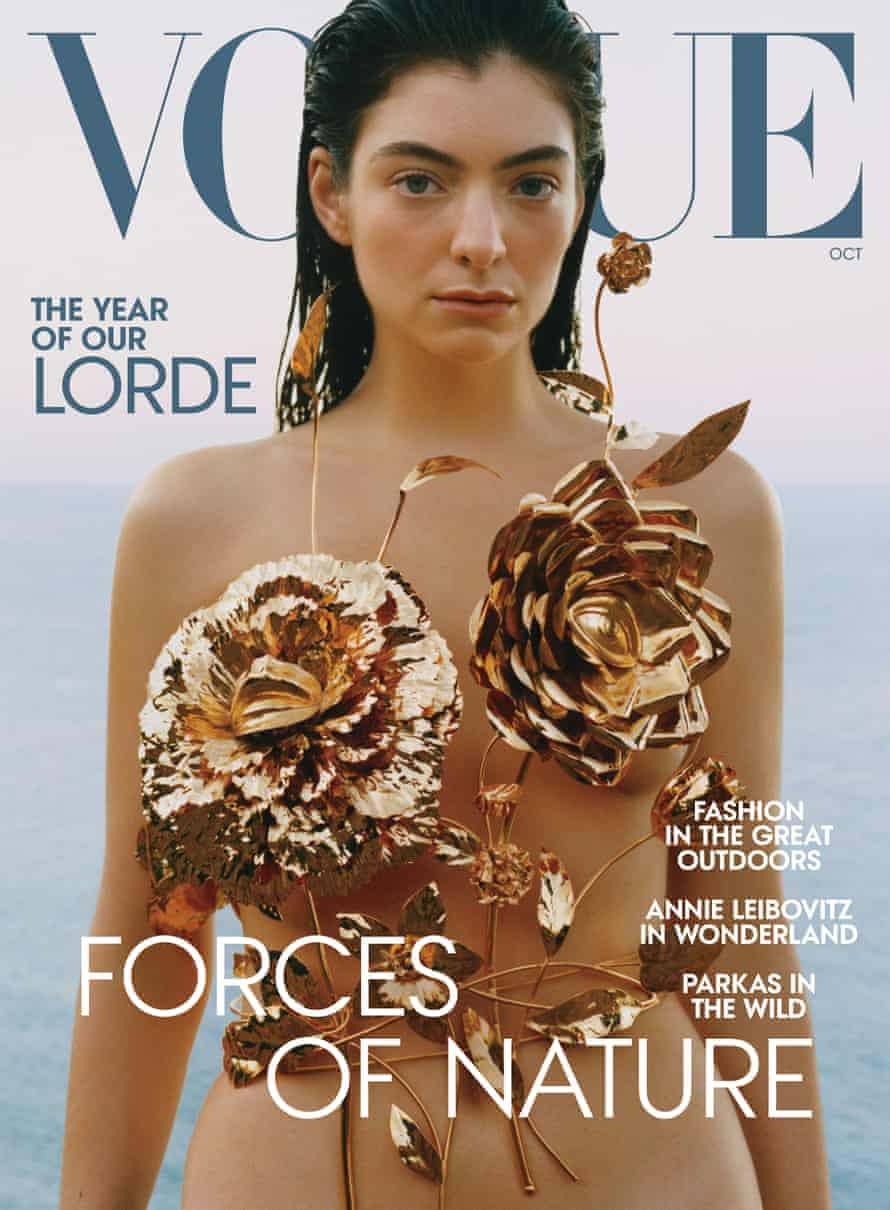 Lorde in Schiaparelli on the cover of US Vogue's October issue