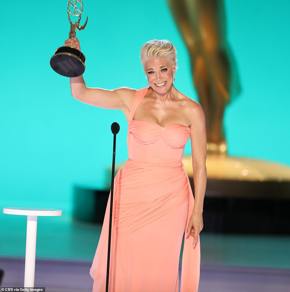 Winner! Ted Lasso's Hannah Waddingham, 47. took home the first award at the 2021 Emmys on Sunday